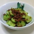 胡瓜と牛肉の炒めもの