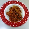 牛こま切れ肉と玉ねぎのトマト煮