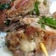 豚肩ロース肉の串焼き―フェンネル風味