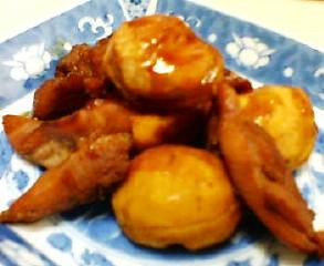 鶏肉と栗の炊き合わせ