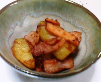 ポテトとハムの焼肉のたれ煮