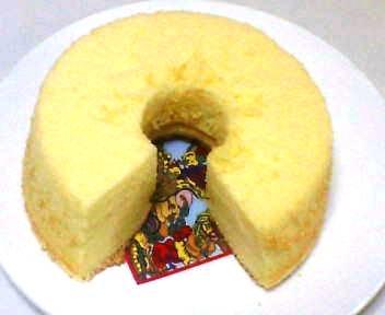 初めて作ったシフォンケーキ