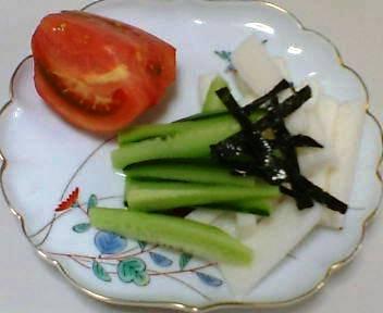 千切り長芋ときゅうり&トマト