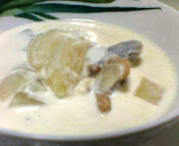 鶏とごぼうのミルクスープ
