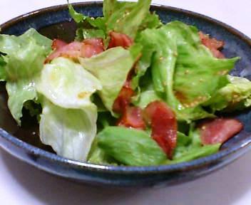 レタスとベーコンのサラダ