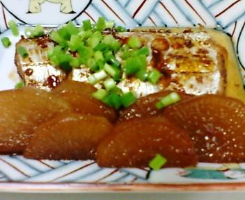 太刀魚と大根の煮つけ
