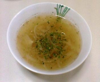 玉ねぎと合い挽き肉のスープ