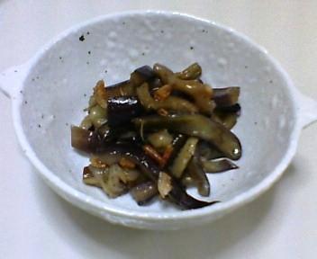 茄子の干しえび炒め