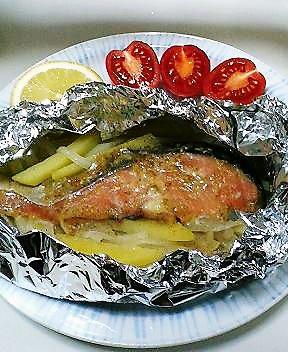 鮭の味噌ゴマヨ焼き