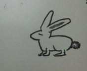 息子が描いたウサギ