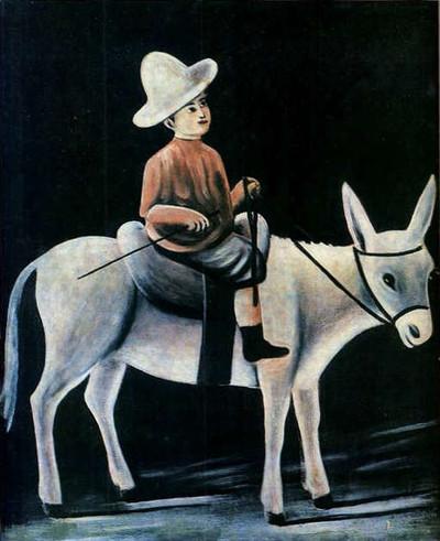 Niko_pirosmani_a_little_boy_riding_