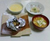 昨日の夕飯(とろろ汁)